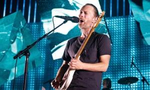 Social media silence broken … Thom Yorke of Radiohead.