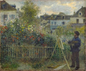 Monet Painting in His Garden at Argenteuil, 1873 by Renoir.
