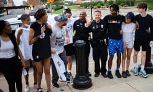 Nykeyla Henderson, 17, organized a protest in Springfield, Illinois.