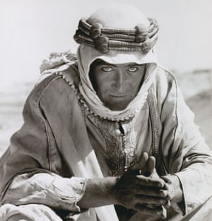 Peter O'Toole on set of the 1962 film Lawrence of Arabia.
