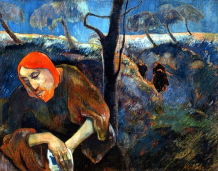 Christ in the Garden of Olives, 1889 by Paul Gauguin.