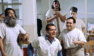 'Jack and I watched some shock therapy at 6am one morning' … Jack Nicholson and Danny DeVito, centre and right, in One Flew Over the Cuckoo's Nest.