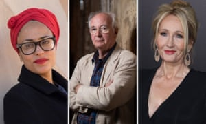 Zadie Smith, Philip Pullman and JK Rowling.