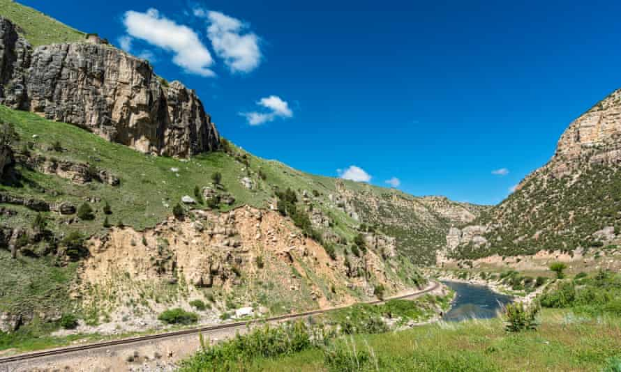 Wind River Canyon, Wyoming.