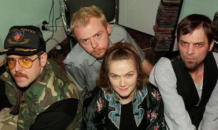 Frost report: with the cast of Spaced. From left: Nick Frost, Simon Pegg, Jessica Stevenson and Mark Heap.