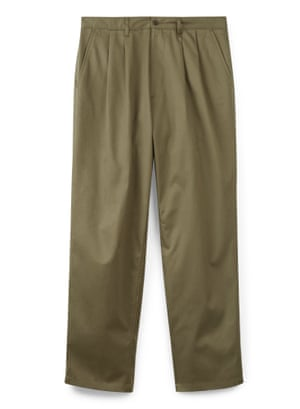 Pleated chinos, £59, Community Clothing