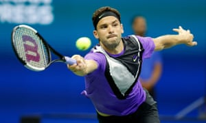 Grigor Dimitrov had never beaten Roger Federer but closed out the match with some comfort in New York.