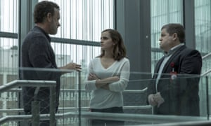 Broad-brushed dystopian thriller … Emma Watson in the 2017 film adaptation of The Circle.