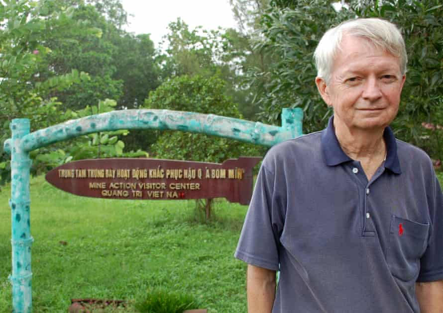Chuck Searcy today outside the land mine action centre in Vietnam.