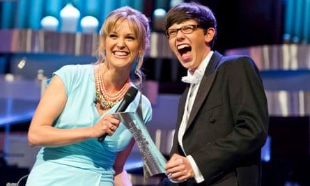 BBC presenter Clemency Burton-Hill gives Martin James Bartlett his award in 2014