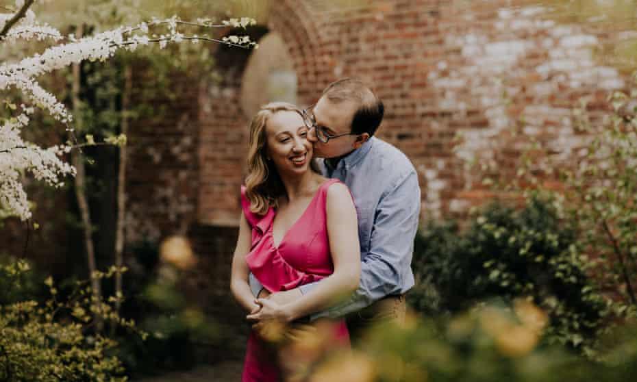Emma Gassett and Matt Kunkel getting engaged.