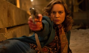 'From the start, it's clear what Free Fire wants to be seen as: a future cult classic, its poster adorning the walls of grubby student bedrooms while regular boisterous special screenings would be filled with obsessive fans shouting out iconic quotes while dressed in character' … Brie Larson in the film