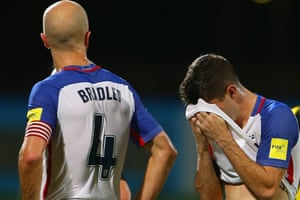 Michael Bradley and Christian Pulisic in the aftermath of the decisive loss against Trinidad and Tobago