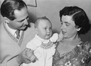 Jacqueline Danson as a baby, with her parents, Ruth and Charles