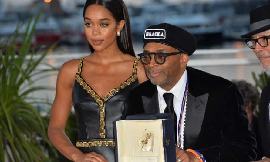 Spike Lee and Laura Harrier.
