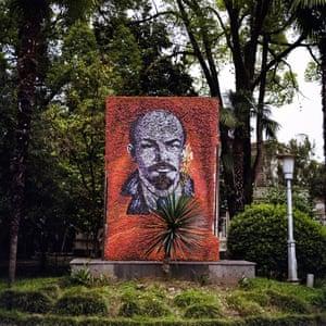 Mosaic of Lenin outside the MVO Sanatorium in Sukhumi.