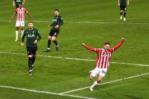 Thompson of Stoke City celebrates.