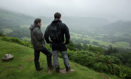 Taking in the views from Hatterall Ridge in the Black Mountains