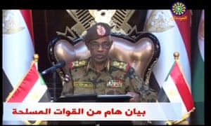 Ibn Auf makes an announcement that President Omar al-Bashir has been detained