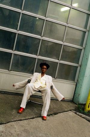Shirt, £455, by Michael Lo Sordo (brownsfashion.com)  Blazer, £745, and trousers, £495, by Joseph (joseph-fashion.-com)  Shoes, £570, by Marni (marni.com)