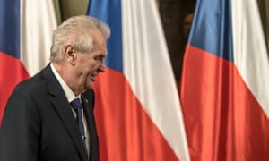 The Czech president, Miloš Zeman.