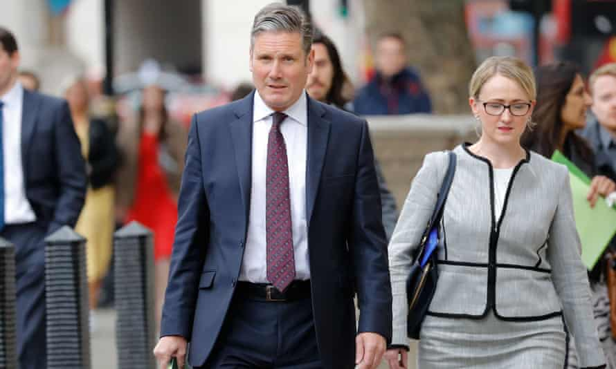 Keir Starmer and Rebecca Long-Bailey in May 2019.