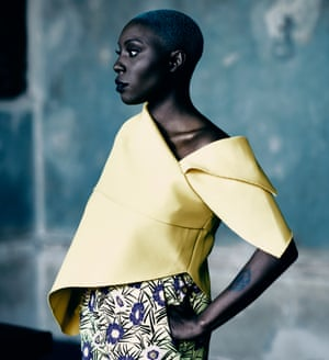 Laura Mvula in a yellow top