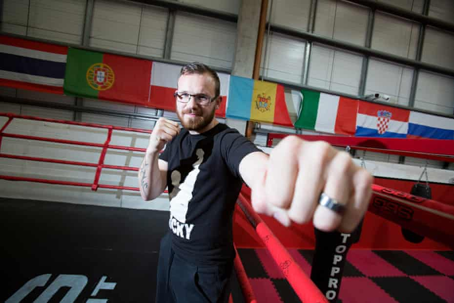Patrick Hyland, in his gym.