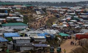 A Rohingya refugee camp in Cox's Bazar, Bangladesh.