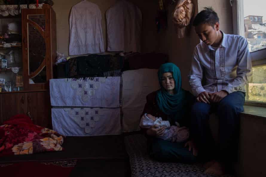 Soraya and Hussain Ameri with their daughter Nazanine.