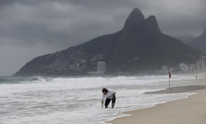 The Ip Ipanema Beach in Rio de Janeiro, Brazil. Many of the estimated 350,000 foreigners to visit during the 2016 Olympics are expected to take a dip at the popular beach. (AP Photo/Silvia Izquierdo)