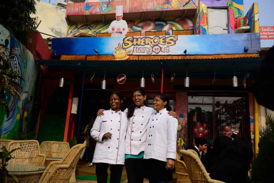 Sheroes Hangout, in Agra, is a cafe and community centre run by female survivors of acid attacks.