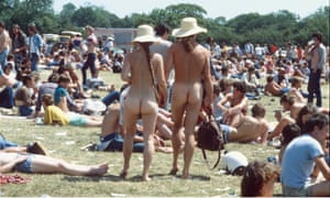 Naked Man and Woman at the Woodstock Festival, Bethel, New York - 1969