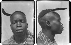 "Chukuma, a young man with tribal marks, Awka, Anambra State, Nigeria, 1910Around half of the approximately 7,500 photographs taken during the surveys are meant to be so-called ""physical type"" portraits, an abhorrent approach that is addressed in the Faces/Voices film."
