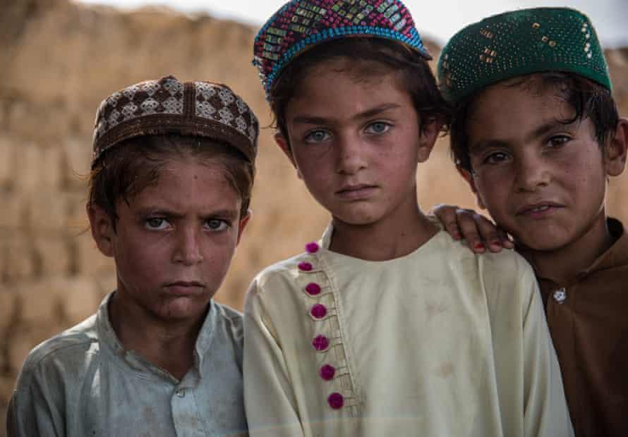 Waziri children in a camp near Pakistan's border in Khost, Afghanistan, who escpaed drone strikes in their native Waziristan.