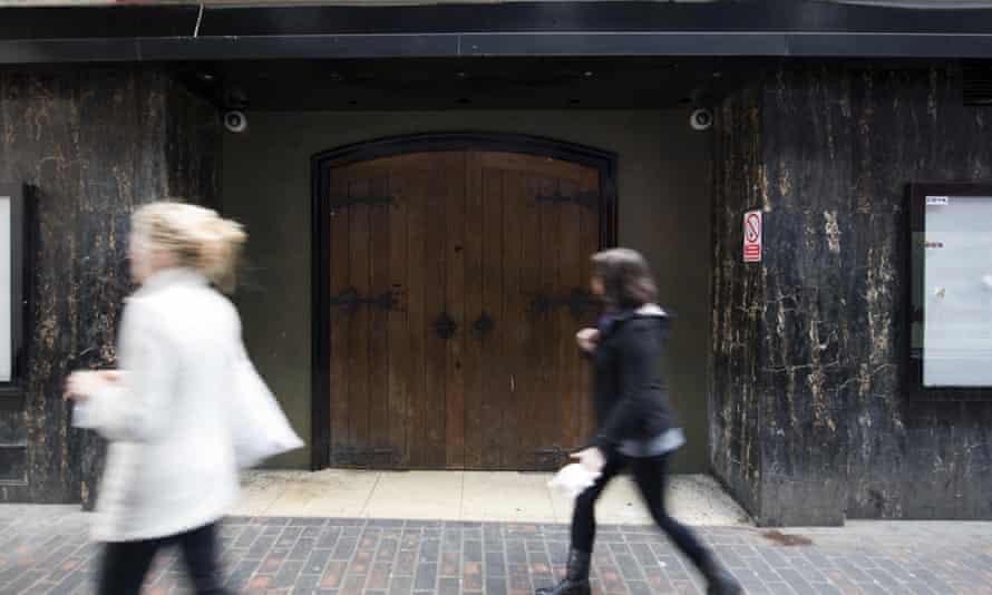 The entrance to the Box Club, Soho