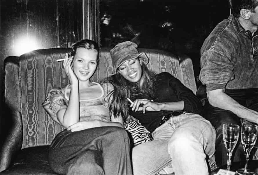After the shows: partying with Kate Moss, 1993. Photograph courtesy of Naomi Campbell.