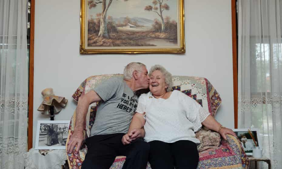 Portrait of Peter Hill, 76, and Barbara Hill, 79, at their home in Fryerstown, Victoria.