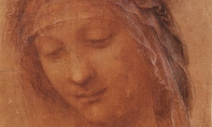Detail from Head of the Madonna, by Leonardo da Vinci.