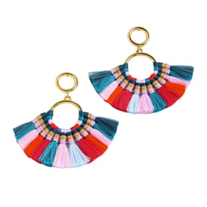 Go boho with these tassel earrings – style with a silk shirt and wide-leg trousers Multicolour tassels, £55, jcrew.com
