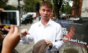 Lauri Love arrives for his extradition hearing at Westminster Magistrates' Court in London, September 16, 2016
