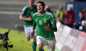 Kyle Lafferty has been crucial to Northern Ireland so far but his booking against Hungary means he is suspended for the visit of Greece next month.