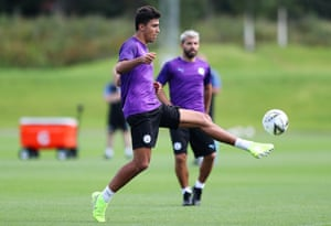 Rodri of Manchester City in training on Friday.