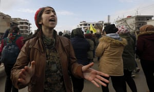 Syrian Kurds protest against threats from Turkey following the US decision to withdraw troops from Syria.