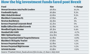 Brexit Investment Funds
