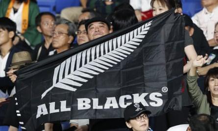 An All Blacks fan