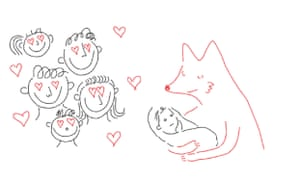 One of Chelsea Cardinal's illustrations from George Saunders's 'beautifully packaged' Fox 8.