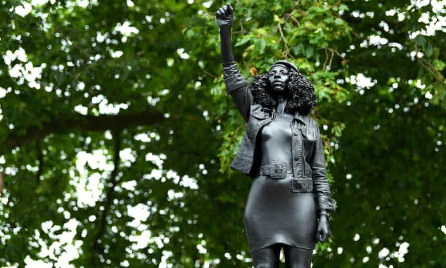 Marc Quinn's statue of Black Lives Matter protester Jen Reid in Bristol