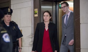 Fiona Hill, a former adviser on Russia, arrives to be deposed behind closed doors amid the US House of Representatives' impeachment inquiry into Trump.
