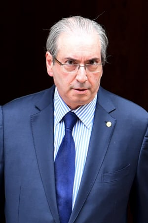 The president of the Brazilian chamber of deputies, Eduardo Cunha, who is pushing for the impeachment of President Dilma Rousseff, is himself accused of taking bribes.